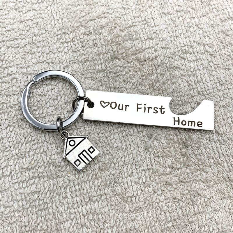 Porte-cl/és New Home New Adventures Couple Best Friend