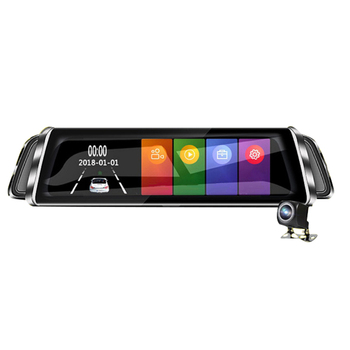 Driving Recorder 10-inch Touch Control Rear View Mirror HD Double Lens Reversing Image DVR