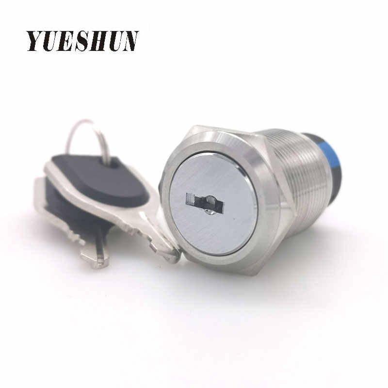 19mm Mounting Thread Waterproof 2 Position 1NO 1NC Latching Selector Switch