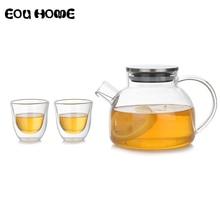Teapots Puer-Kettle Glass-Maker Heat-Resistant Coffee with Cup Office-Tea-Pot Convenient