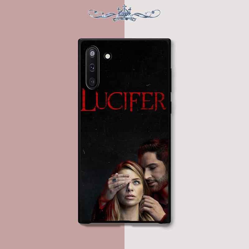YNDFCNB Lucifero Del telefono del Silicone della copertura di caso per Samsung galaxy J2 J2 J3 J4 più J5 prime J7 2016 J6 nota 5 8 9 10 funda
