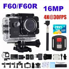лучшая цена GOLDFOX H9 Style Action Camera Ultra HD 4K 30fps 16MP Wifi Action Sport Camera 170D 30m Go Waterproof Pro Helmet Mini Camera DVR