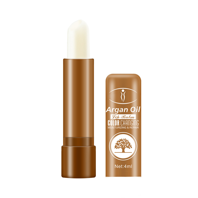 1pc Color Changing Argan Oil  Lip Balm Strawberry VC Lipstick Anti-Aging Moisturizing Natural Lip Care maquiagem