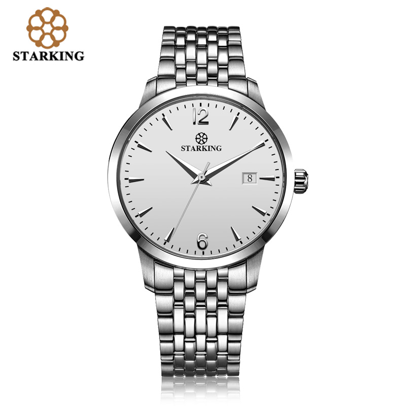 <font><b>STARKING</b></font> Men Mechanical Watch Dress Fashion 28800 Beat <font><b>Automatic</b></font> Self-wind WristWatch Stainless Steel Male Relogio 5M Waterproof image