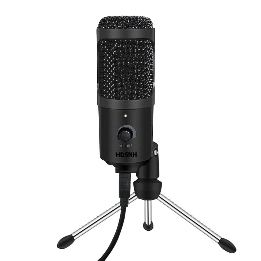 Micrófono USB condensador micrófono de grabación con soporte para Mac Laptop PC Karaoke Streaming Twitch voz Podcasting para Youtube