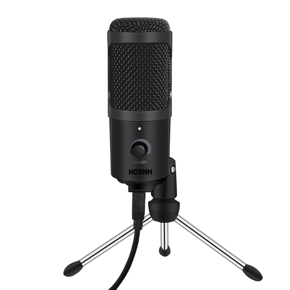 Microfone usb condensador gravação microfone com suporte para mac computador portátil karaoke streaming twitch voz podcasting para youtube