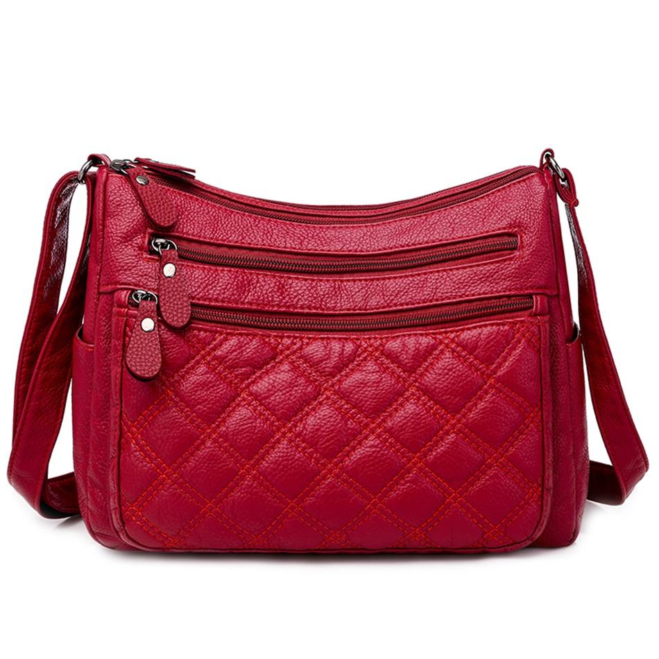 LONOOLISA Fashion High Quality PU Leather Women Shoulder Bags Luxury Handbags Women Simple Crossbody Bags Designer Sac Femme