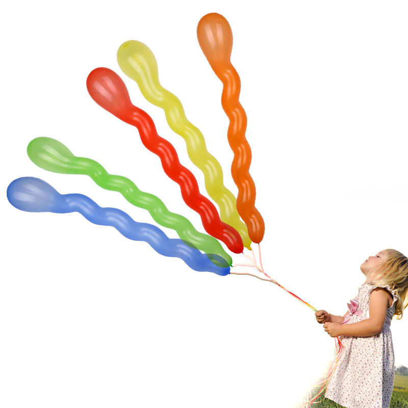 10 pcs/สีผสมเกลียว Twist Latex บอลลูนงานแต่งงานวันเกิด PARTY Decor ของเล่นเด็ก 72XF