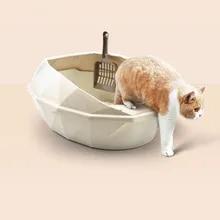 Bedpans Pet-Litter-Box Cleaning-Supplies Semi-Closed Anti-Splash Cat Plastic Detachable