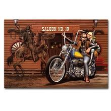 David Mann – affiche de Moto imprimée Saloon No10, tableau mural, peinture en soie ou toile, décor de maison, 30x45cm 40x60cm 50x75cm
