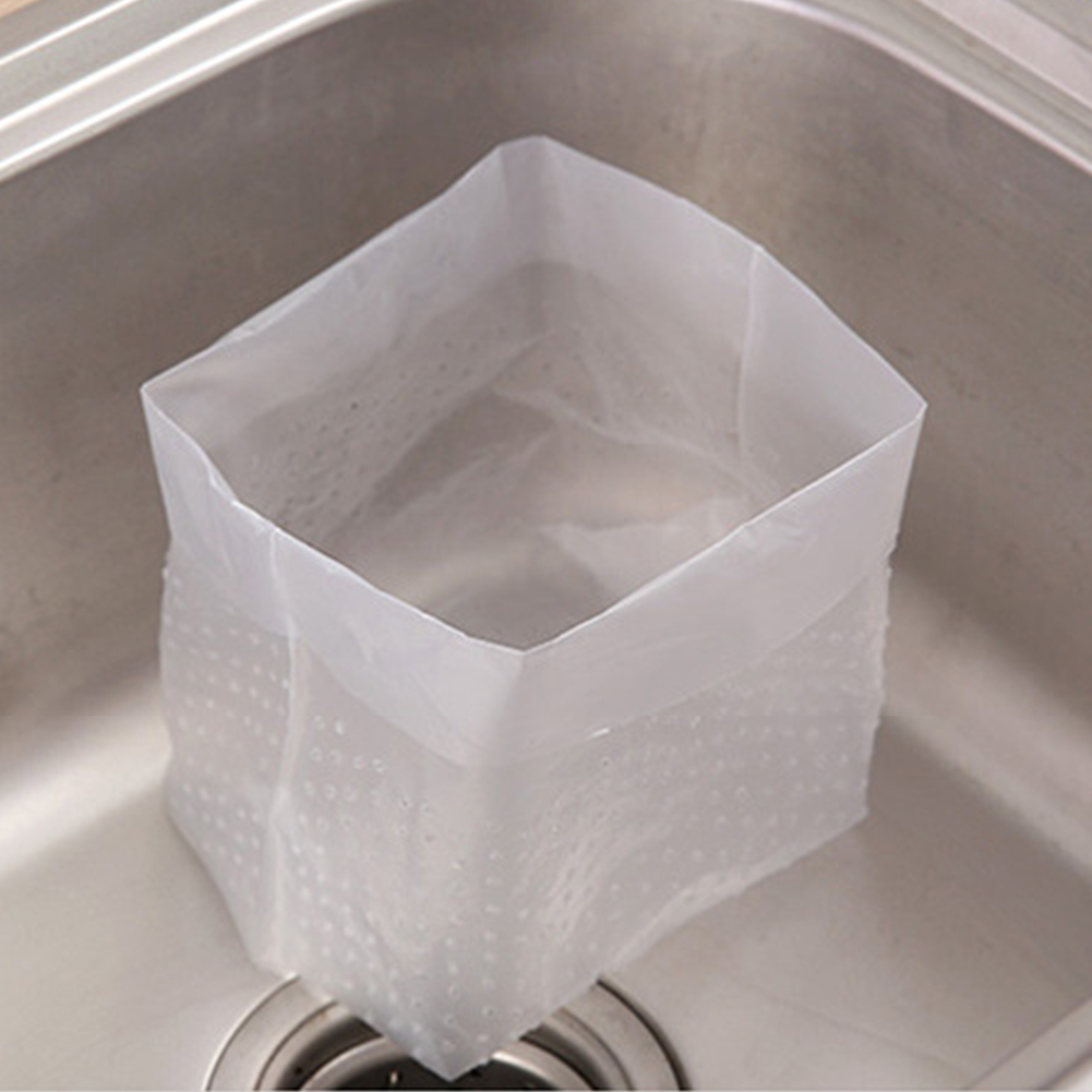 30pcs//pack Filter Screen Foldable Cooking Drain Hole Sink Strainer Garbage Bag