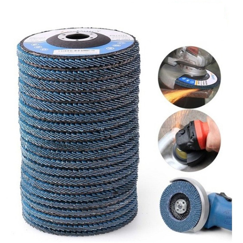 10PCS Professional Flap Discs 115mm 4.5 Inch Sanding Discs 40/60/80/120 Grit Grinding Wheels Blades For Angle Grinder