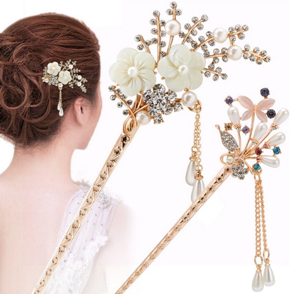 Retro Vintage Bridal Wedding Party Gifts Hairpins Elegant Women Colorful Hair Clip  For Women Girls Hair Styling Accessories