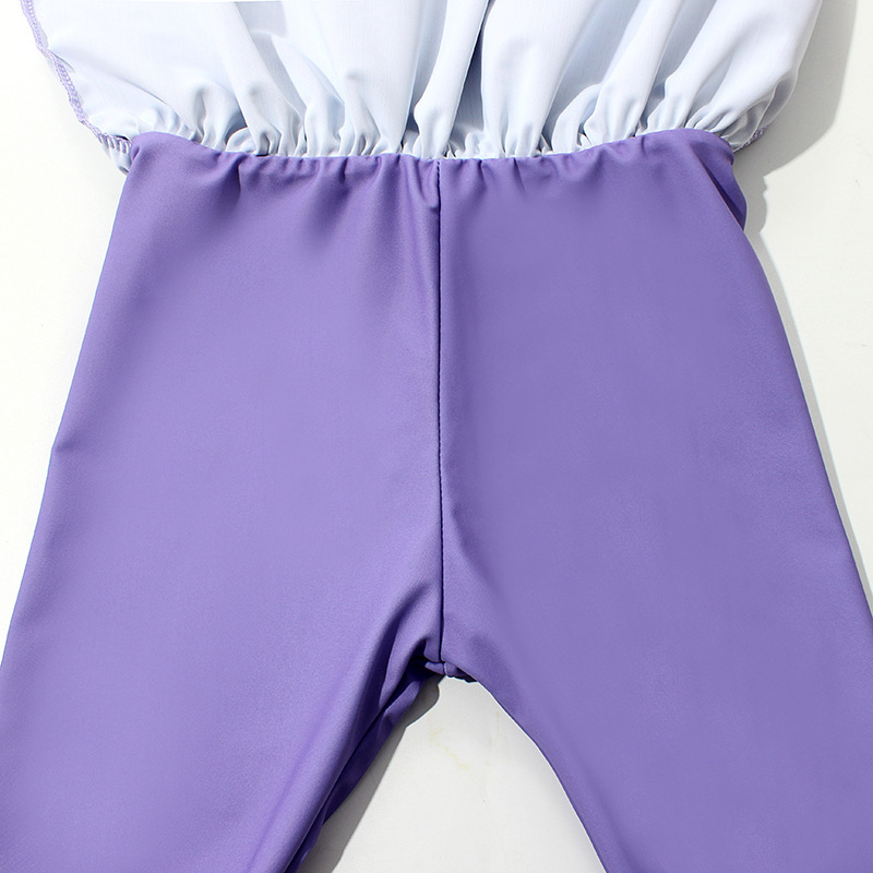 New Style South Korea CHILDREN'S Swimwear Split Two-Piece Floral Long Sleeve Divided Skirt-Trousers Infants Medium-small Baby Gi