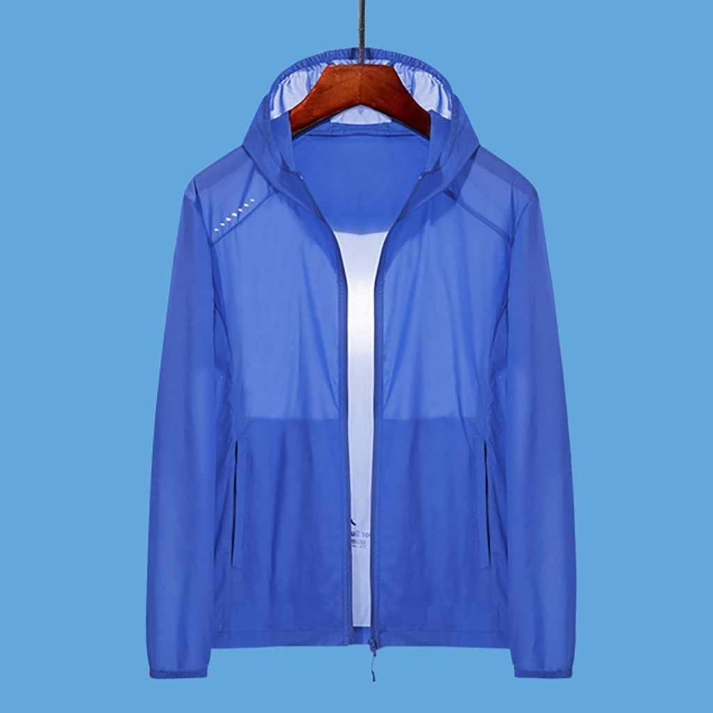 KANCOOLD tactical jacket Men's Summer Breathable Sunscreen Pure Color Sportswear Thin Quick dry Windbreaker Tops sweatshirt Jun1