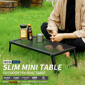 Outdoor Folding Mesh Table Camping Lightweight Waterproof Barbecue Table Travel Self-driving Tour Portable Portable Table