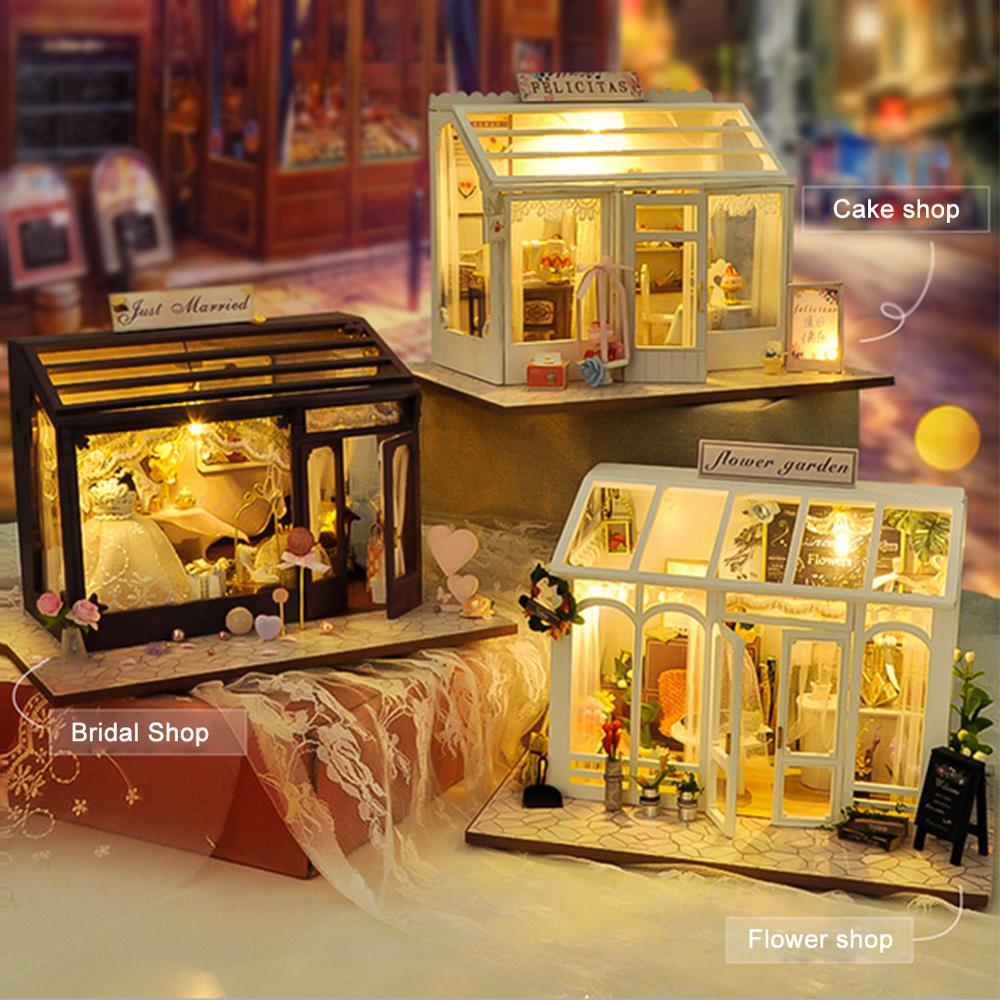 Toy handmade DIY house European-style modern shop small house handmade assembly model creative gift crafts children architectura