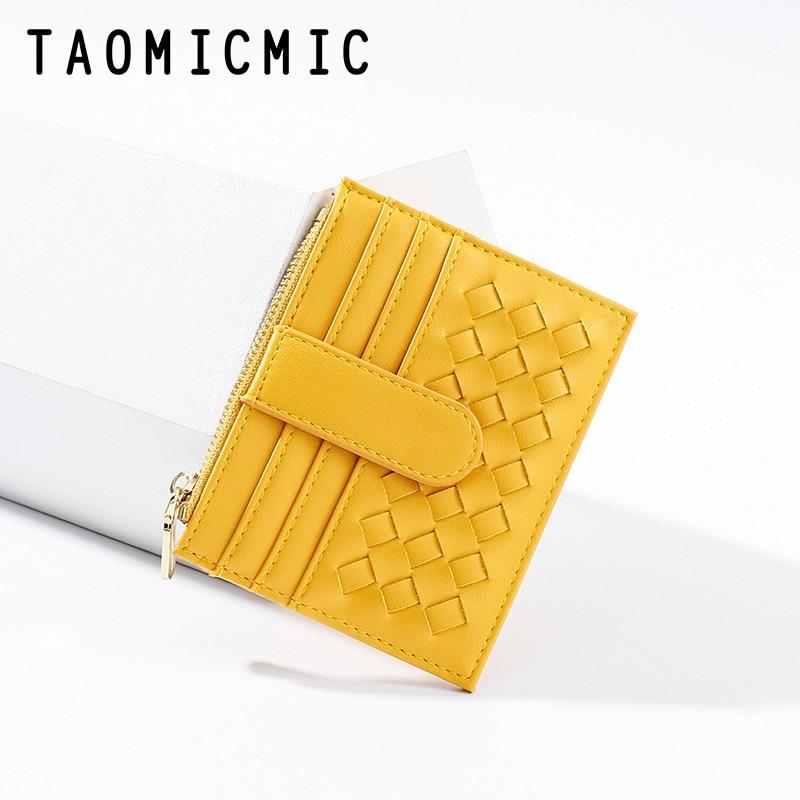 Yue Qian Kay Fashion Weaving Small Card Holder Multi-functional Coin Wallet Women's Korean-style Thin Card Bit More Purse
