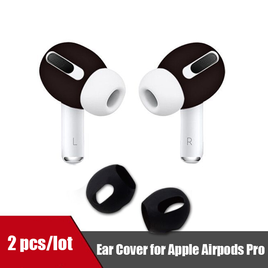 2pcs Silicone Earphone Case Cover For Airpods Pro Anti-Slip Soft Earbuds Eartips Cap For Apple Airpods Pro 3 Accessories