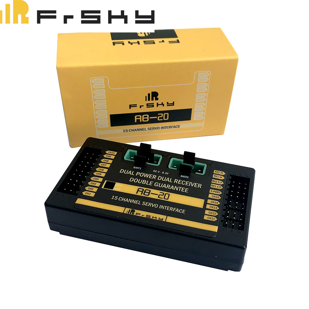 Frsky RB-20 RB20 Dual Power Dual Receiver Telemetry Auto-switch & Maximum Current Output Up to 10A