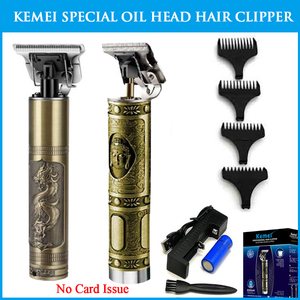 Kemei 1974A Будда/Longfeng C масляная головка резьба электрическая машинка для стрижки сухая батарея Тип парикмахерский нож Парикмахерская специаль...