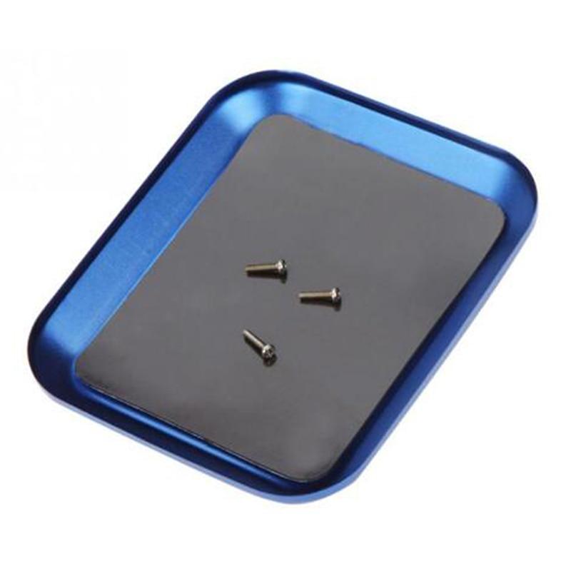 Лоток инструменты Алюминиевый сплав лоток для винтов с магнитной для RC модели телефона ремонт модели винтовой пластины Запчасти