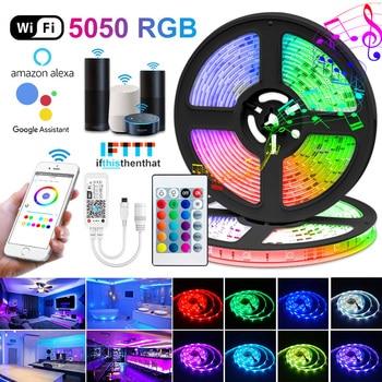 WIFI LED Flexible Bluetooth Strip Lights | Waterproof RGB Diode Lighting Tape Garden Decorative Lights Lighting Tech Gadgets Novelty Lightings