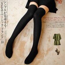Women Sexy Warm Thigh High Stockings Over Knee Socks Velvet Calze Stretch Stocking Temptation Japanese Overknee Long Socks