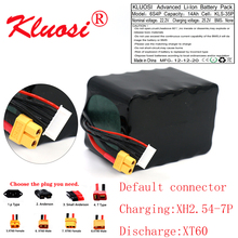 KLUOSI – batterie Li ion 6S4P 24V, 14ah, 25.2V, Rechargeable, haute capacité, pour divers drones radiocommandés, quadrirotor, XT60