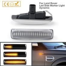 2Pcs 다이나믹 LED 사이드 마커 턴 시그널 램프 랜드 로버 레인지 로버 스포츠 프리랜더 디스커버리 3 4 LR2 LR3 LR4 L359