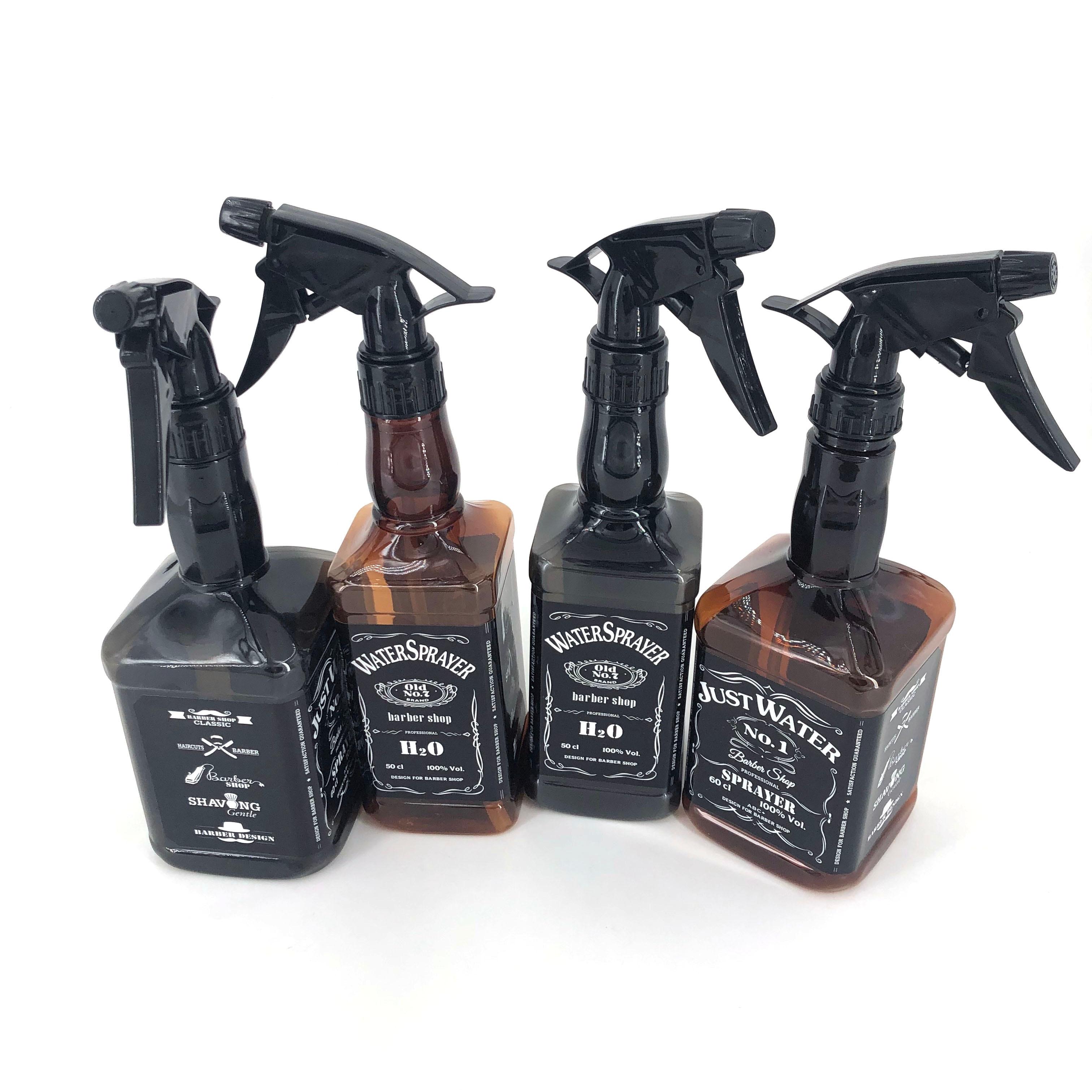 500ML/650ML Hairdressing Spray Bottle Salon Barber Hair Tools Water Sprayer Retro Whiskey Oil Head Watering Can