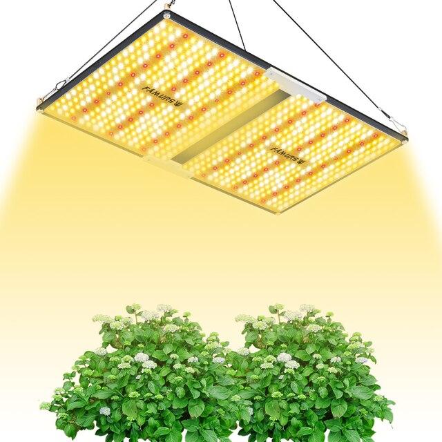 Светодиодная лампа полного спектра Famurs, квантовая панель 1000 Вт/2000 Вт/3000 Вт, лампа для освесветильник растений для внутреннего освещения, яркая палатка для выращивания
