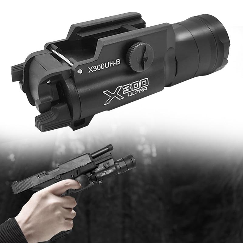 Glock Flashlight Tactical Weapon Light X300UH-B X300U X300 Pistol Gun White LED Hunting Flashlight For 20mm Picatinny Rail