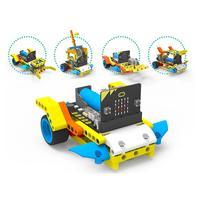 Programa inteligente robô bloco de construção carro kit várias formas vapor educação carro para micro: bit (com/sem micro: bit board)
