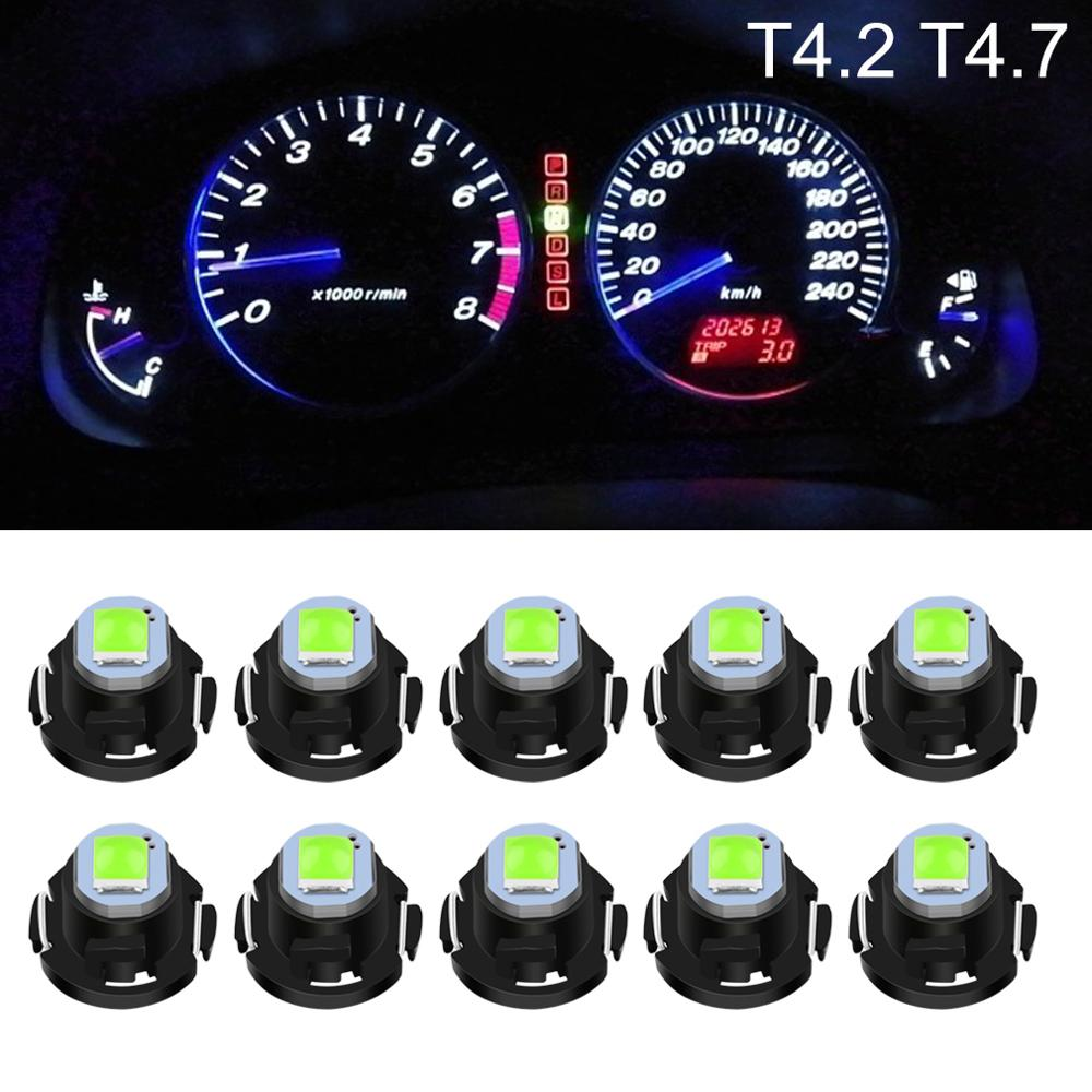 10pcs T4.2 T4.7 LED Super Bright 3030 LED Chips Car Board Instrument Panel Lamp Auto Dashboard Warming Indicator Wedge Light