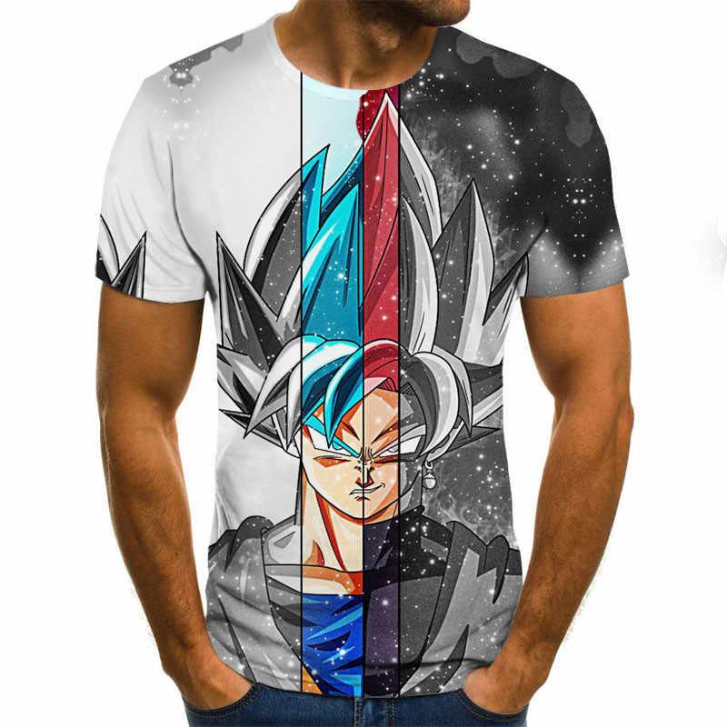 Manga Dragon Ball Z Super Saiyan Son Goku Anime Zomer 3D Print 2020 Nieuwste Mode Tee Tops Mannen/Jongens cartoon Casual T Shirt