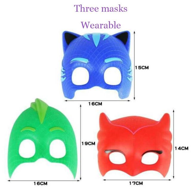 pj mask Doll model masks three different color masks Catboy Owlette Gekko Figures Anime Outdoor Funny Kids Toys for Children S57 5