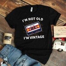 Je ne suis pas vieux, je suis Vintage, 50, 60, 70, 80 ans, chemise, Cassette, musique classique pour vieux
