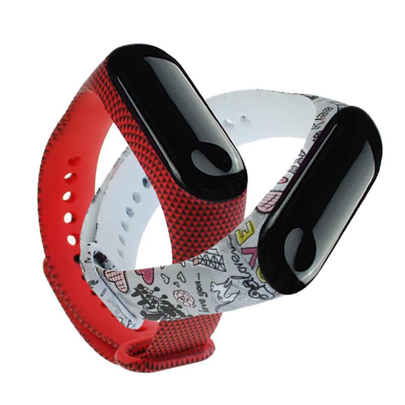 21 Styles sangle pour Xiao mi bande 4 3 mi bande 4 3 Silicone Bracelet Bracelet remplacement intelligent coloré Sport Bracelet