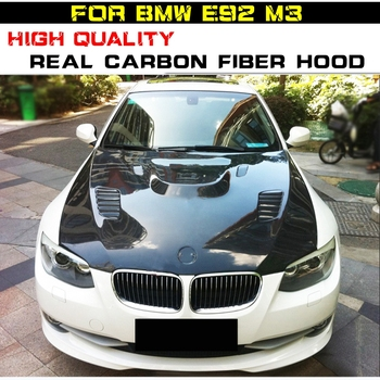 E92 M3 HOOD BONNET Carbon Fiber Front Hood Bonnet Fit For BMW M3 E92 E90 E93 2009-2013