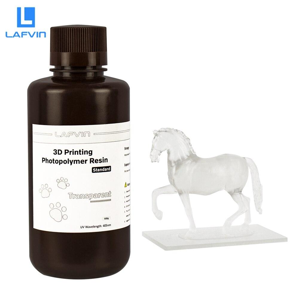 3D принтер LAFVIN, быстрая печать, смола 500 нм, ЖК/SLA/DLP, УФ-отверждаемые смолы, фотополимер, УФ смола, жидкая прозрачная г/1 кг