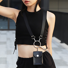 Belt-Bag Purse Phone-Chain-Bags Fanny-Pack Black Female Fashion Women Gift for Lady Simple