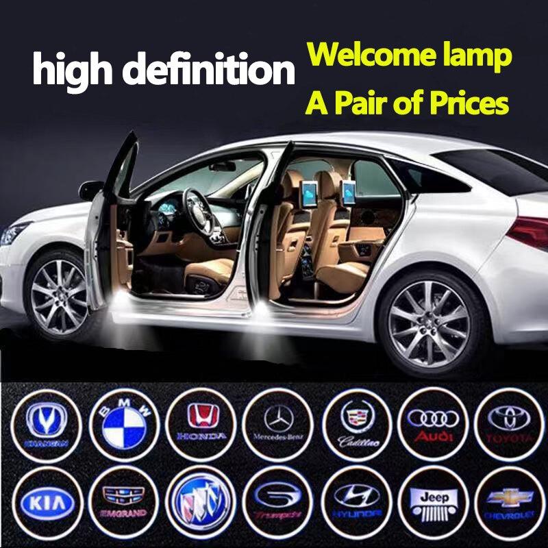 Door Projection Lamp Vehicle Welcome Lamp Radio Radium Floor Lamp Access free Public Open Door Lamp Decorative Lamp in Decorative Lamp from Automobiles Motorcycles