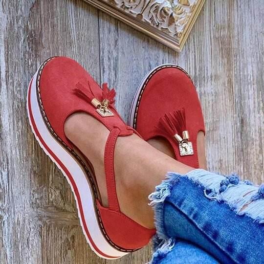 2020 Women Flat Shoes Thick Sole Platform Shoes