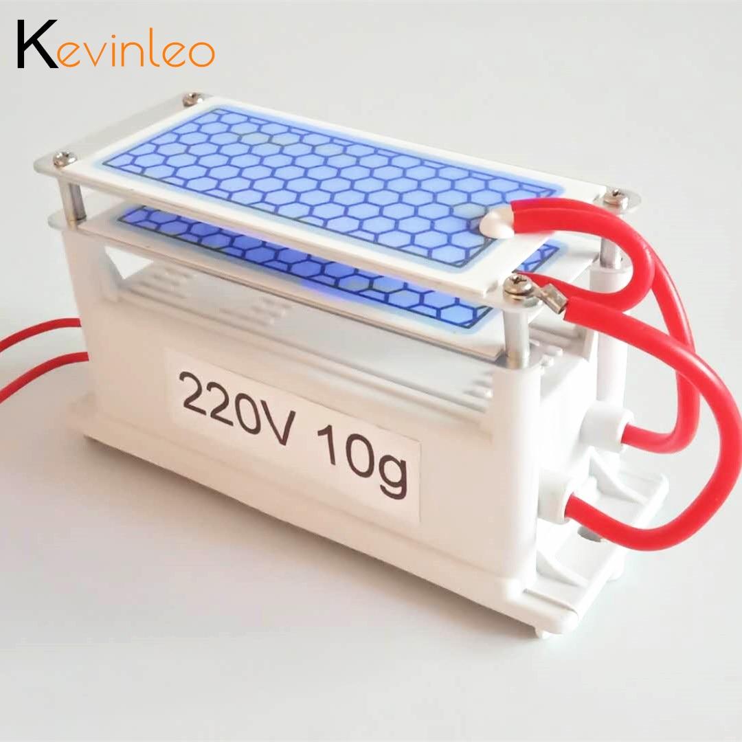 Gerador de ozônio 220v 110v 10g purificador de ar ozonizador mini ozonizador gerador esterilização odor ar mais limpo