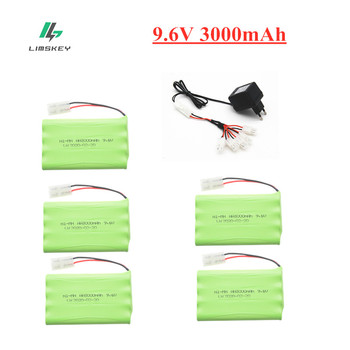 9.6v 3000mah Ni-MH Battery + USB Charger For Rc toys Car Tank Train Robot Boat Gun AA 9.6v AA Ni-MH Rechargeable Battery Pack