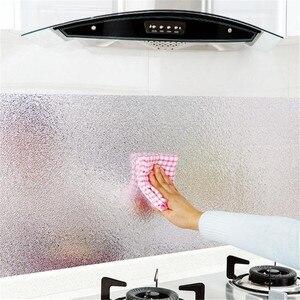 60x100 см кухонная маслостойкая Водонепроницаемая наклейка s алюминиевая фольга для кухни печного шкафа самоклеящаяся настенная наклейка DIY о...