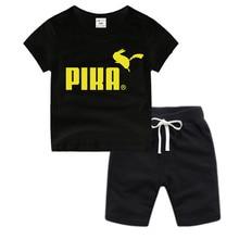 Little Boy Girl Anime Pikachu Cotton T-Shirt Kids Christmas Shirt Children Cartoon Toddler Tshirt Luxury Top