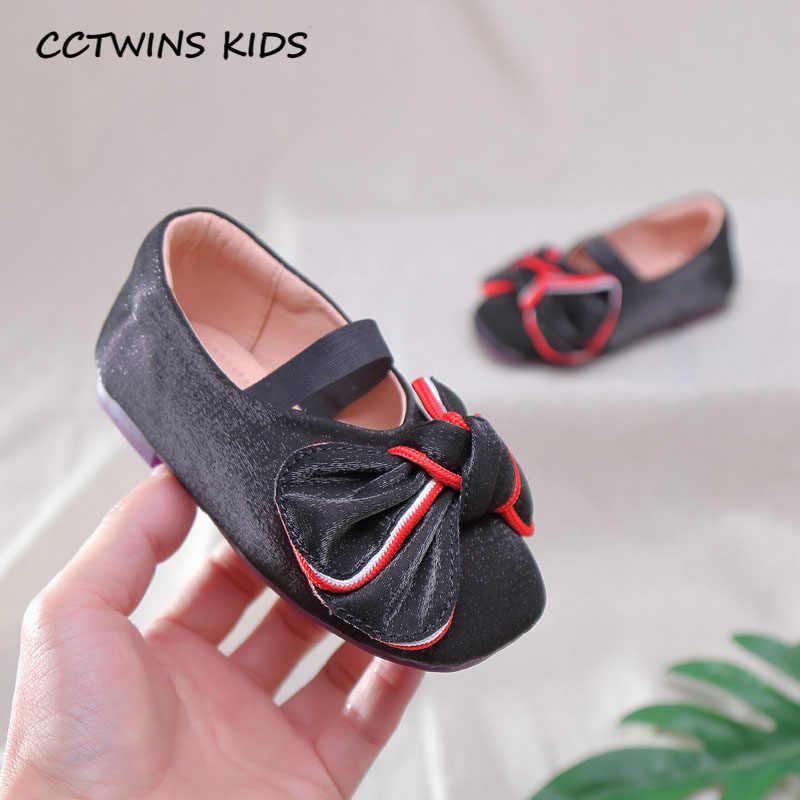 CCTWINS çocuk ayakkabı 2020 ilkbahar çocuk kelebek Mary Jane bebek kız marka parti ayakkabıları yürümeye başlayan moda düz siyah GM2557