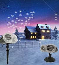 Светодиодный лазерный прожектор в виде снежинки водонепроницаемый